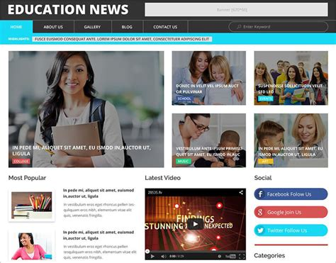 news template html5 20 news website html5 templates free premium themes