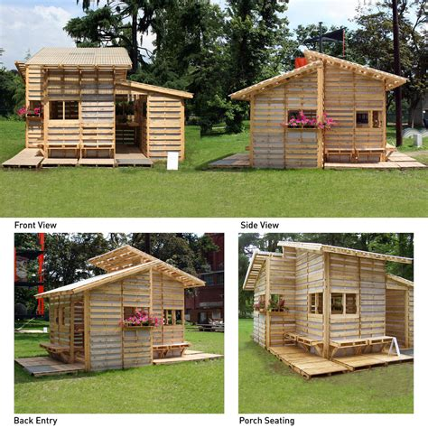 plans to make a pallet house pallet house the pallet house project aids in the revitali flickr