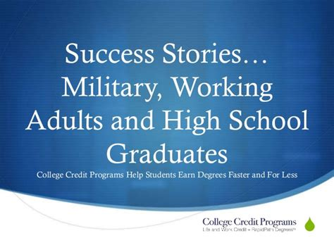 Success Stories Of Mba Students by Studies Of Working Adults And High School
