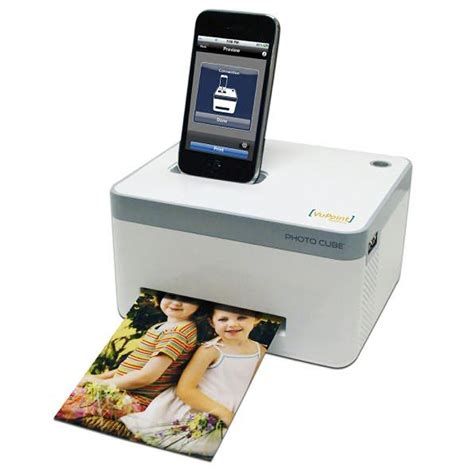 vupoint photo cube portable photo printer and station use it to view print and charge