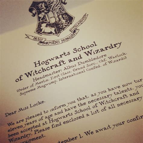 Personal Acceptance Letter From Hogwarts You Ve Been Accepted To Hogwarts Locke Photography