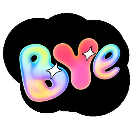 bye bye text sticker by v5mt for ios & android | giphy