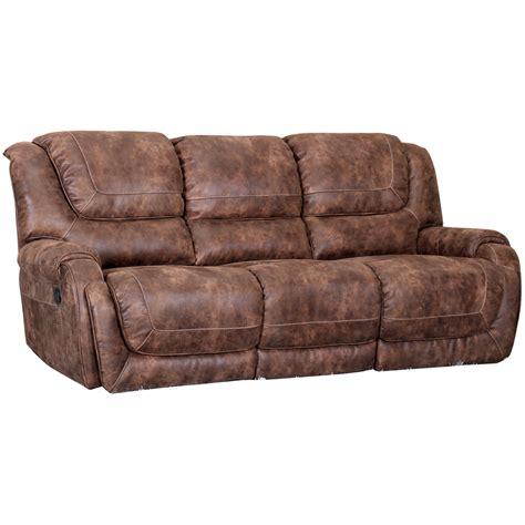 Leather Look Sofas Barcalounger 39 4561 6027 87 Vincent Ii Power Sofa In Ford Chestnut Microfiber Leather Look Fabric
