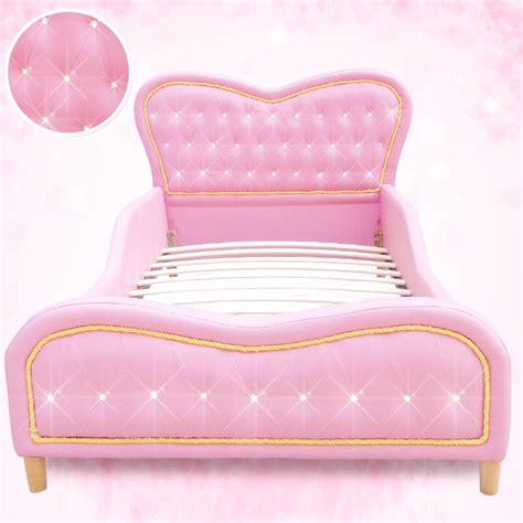 heart bed kids single pu leather studded heart bed frame pink buy