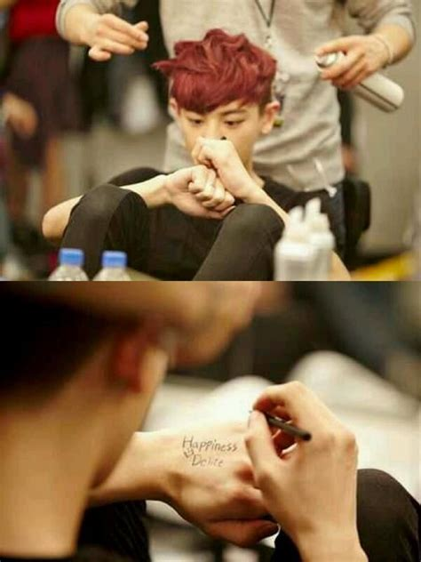 Exo Chanyeol New Tattoo | chanyeol and his new tattoo exo exo pinterest