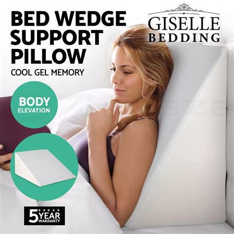 bed wedge flip pillow back neck support flip 4 leg support 1x 2x memory foam bed wedge pillow cushion neck back