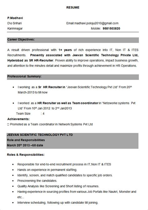 bpo resume template 22 free samples examples format