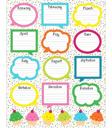 birthday chart template for classroom template birthday chart template for classroom colorful