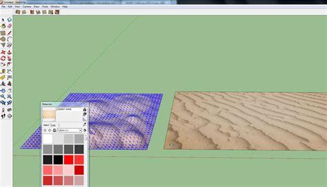 google sketchup sandbox tutorial google sketchup 8 creating smooth terrain with texture