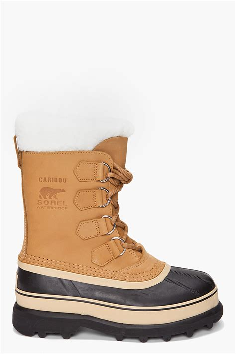 boot shoes for sorel the caribou boot in buff in brown lyst