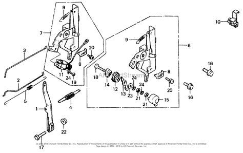 honda small engine parts diagram honda engines gv400 adaa engine jpn vin gv400 1000001