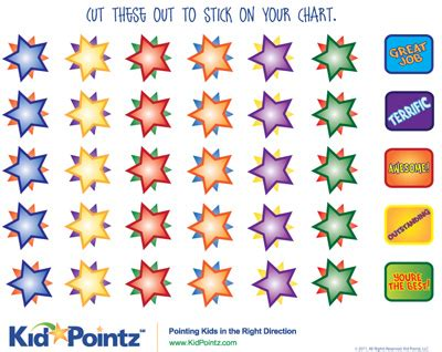 printable star stickers behavior charts reward system for kids parenting kid