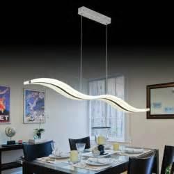 moderne led vague pendentif le luminaire pour salon