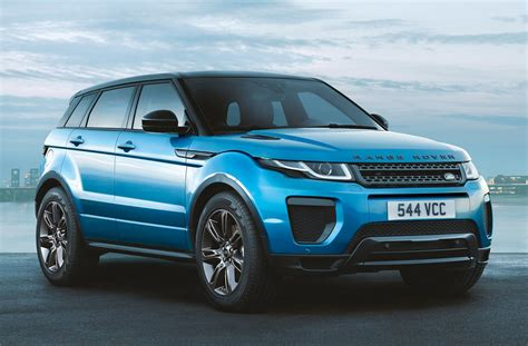 blue range rover range rover evoque landmark edition gets special shade of