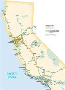 california rail map california map