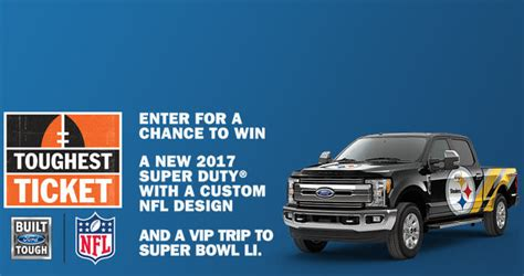Nfl Ford Sweepstakes - nfl com toughestticket ford toughest ticket sweepstakes 2016