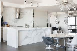 White Marble Kitchen Island Marble Kitchen Island Interior Design Ideas