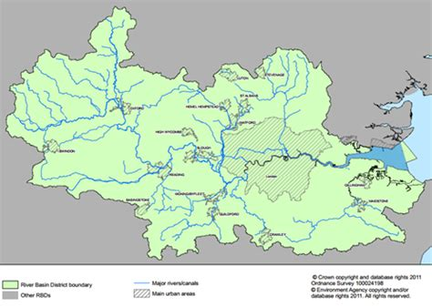 river thames catchment area map river thames and thames basin timeline maps