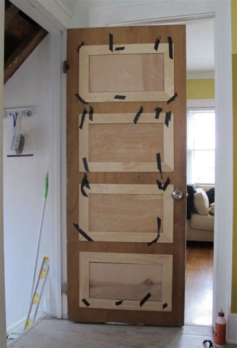 diy door paneling crafts pinterest