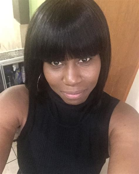 Black Hairstyle Weave Bob With Bangs by Hair Weave Bob With Bangs Pictures How To Swoop Bangs