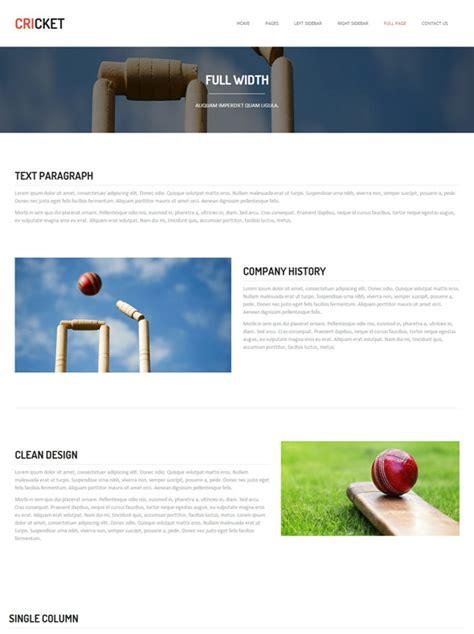 Cricket Website Template Cricket Website Templates Dreamtemplate Cricket Website Templates Free