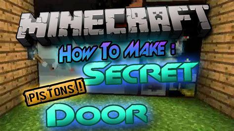 minecraft    secret door hidden