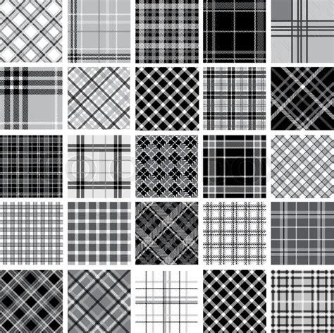 vector plaid pattern free big black white plaid patterns set stock vector