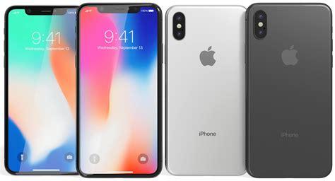 3 iphone x models 3d realistic apple iphone x model turbosquid 1202800