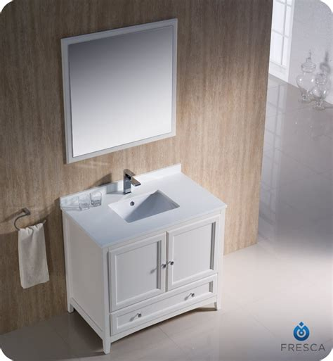 Antique White Bathroom Vanities by Fresca Fvn2036aw Oxford 36 Quot Traditional Bathroom Vanity In