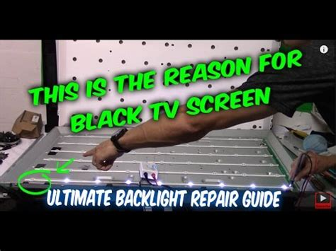 how to fix led lcd tv black screen no backlight, tv