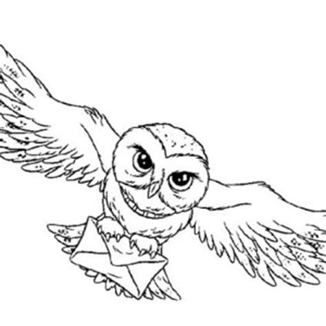 harry potter coloring book owl post simple owl drawing for simple owl drawing for
