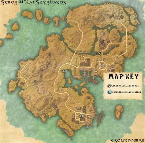 skyshard eso locations map elder scrolls online stros m kai skyshard location guide