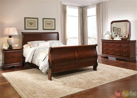 Mahogany Bedroom Set | carriage court traditional mahogany finish bedroom set