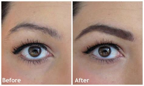 fill  sparse eyebrows   makeover
