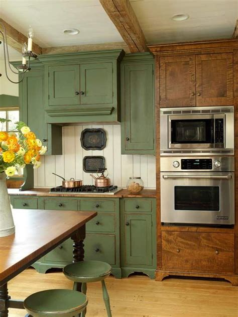 Country Kitchen Cabinet Colors A Few More Kitchen Backsplash Ideas And Suggestions Green Cabinets Country
