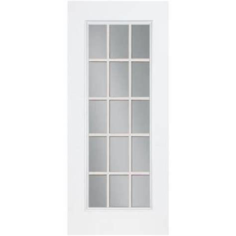 Masonite 32 In X 80 In 15 Lite Primed Smooth Fiberglass 15 Lite Exterior Door