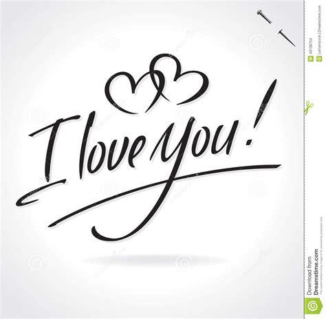 imagenes de i love you en cursiva te amo letras de la mano ilustraci 243 n del vector