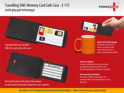 power plus travelling sd sim card safe case the world of power plus products