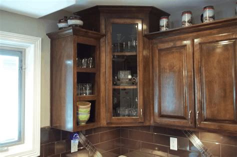 Corner Pantry Cabinet Smooth White Wooden Countertop Black Corner Cabinet For Kitchen