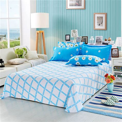 twin bedding for adults 100 cotton printed flat bed sheet queen size 230x250cm