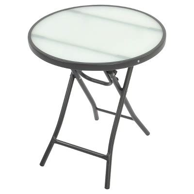 bistro round folding accent table medallion room bistro round folding accent table clear room