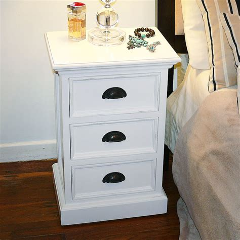 Home Decor Stores Halifax by Halifax White Mahogany 3 Drawer Nightstand Dcg Stores