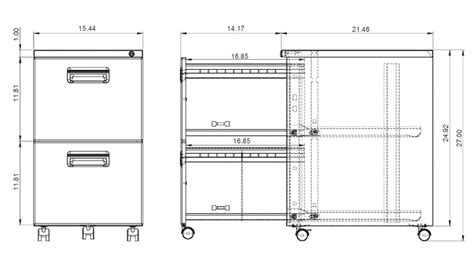 Dimensions Of Filing Cabinet by Paragon Mobile Pedestal File Cabinet File File It File