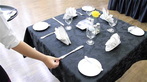 how to set up a table table set up f b service youtube