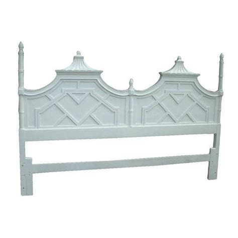 chinoiserie headboard vintage thomasville pagoda king size headboard by