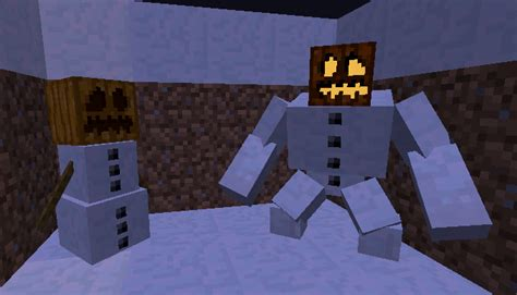 Minecraft Papercraft Snow Golem - minecraft mutant creatures mod