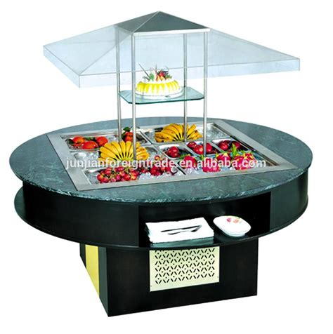 Counter Top Salad Island Salad Bar Mh1570fl4t sales well wooden salad bar bar counter buffet equipment hotel equipment refrigerator