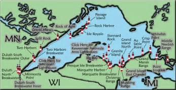 lake superior map lake superior lighthouse map michigan