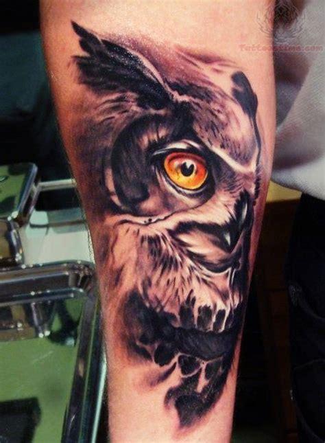 owl eyes tattoo yellow eye owl