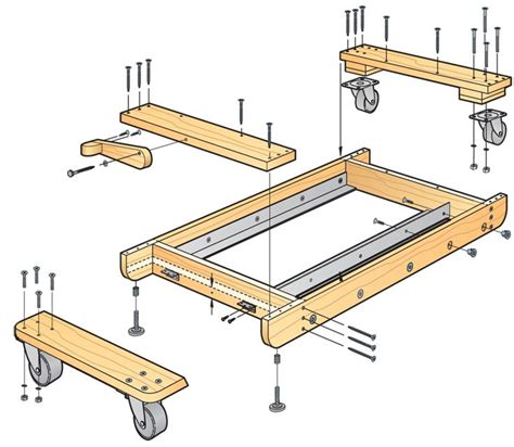 mobile bases for woodworking equipment 65 best images about workshop mobile stands on